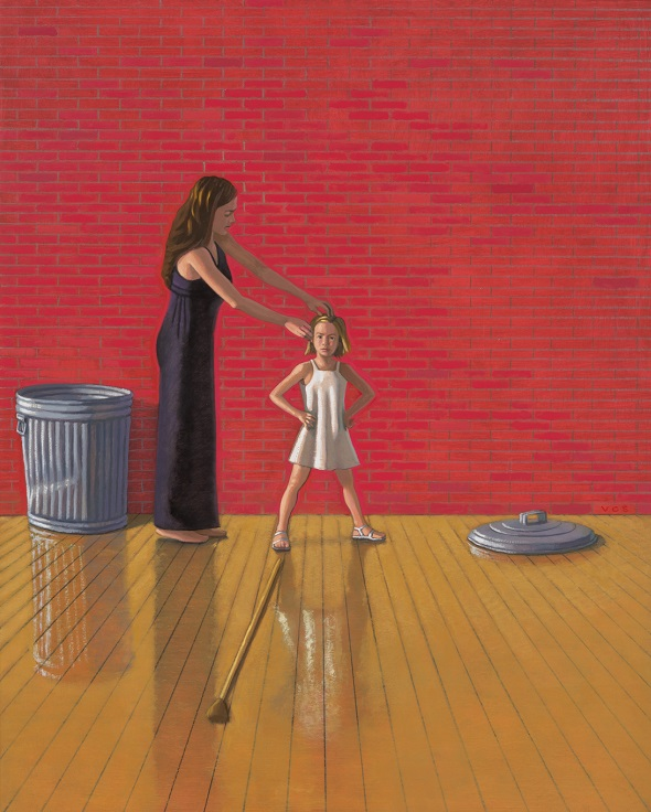 Vonn Sumner_Mother and Child with Trash Can_2015_oil on panel_20_x16_web